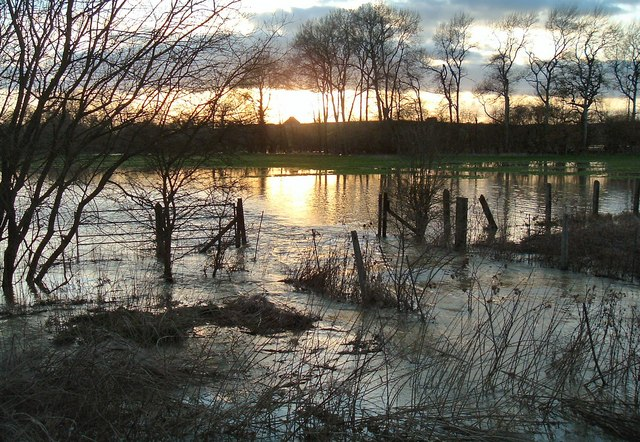 River Thame in flood by railway at Notley 67