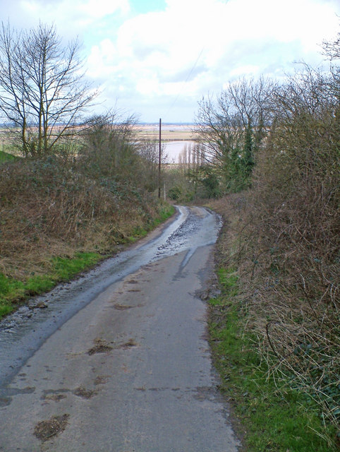 The Road down to Alkborough Flats