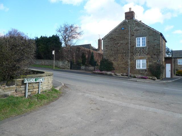 Sloade Lane - Junction with Ridgeway Moor
