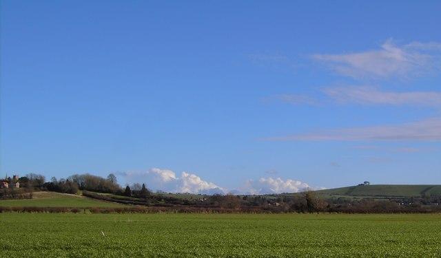 Clouds on the horizon, Liddington, Swindon