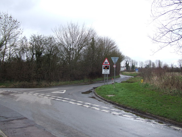 Junction and Road Leading up to Level Crossing, Great Moulton