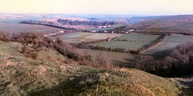 Bowerchalke viewed from 'the hollow' facing North East