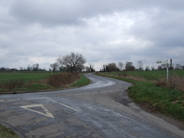 Junction of Frosts Lane and Carr Lane, Great Moulton