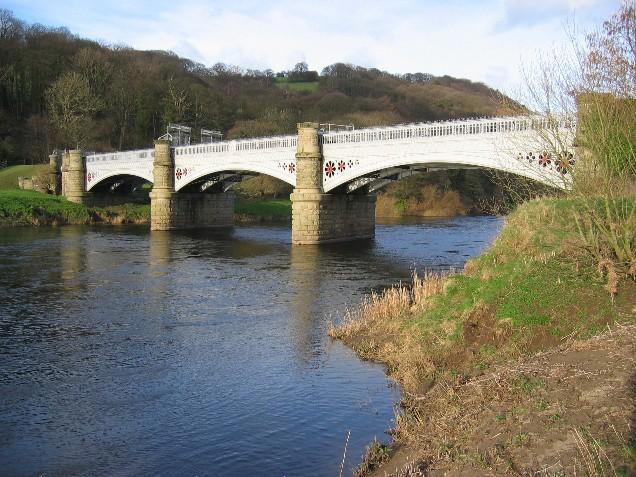 Pipe bridge over River Lune