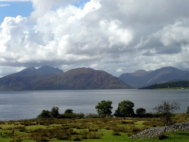 Rough pasture on shores of Loch Linhe