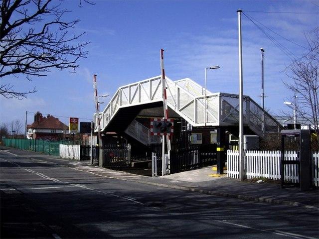 Footbridge at Hall Road Station