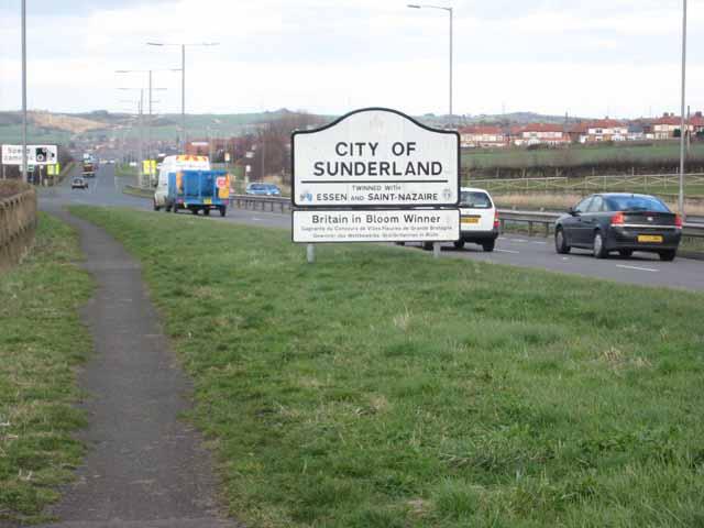 Sunderland boundary on the A690