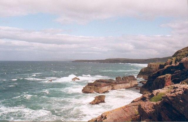 Torridon sandstone meets the ocean.