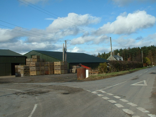 Road Junction by Burngrange Farm
