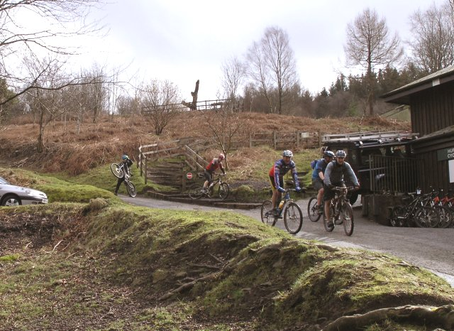 Mountain Bikers at Afan Argoed country park