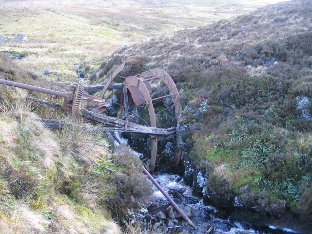 Garepool Burn and remains of an old water wheel