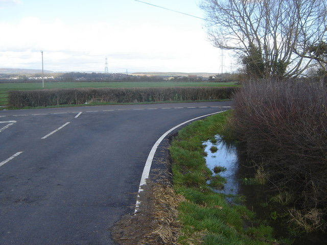 Junction of the two roads leading to Redwick, Monmouthshire
