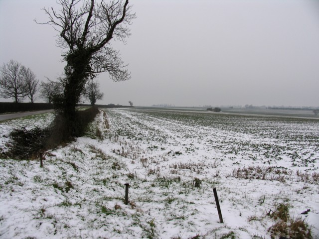 Fields with snow in the rain!