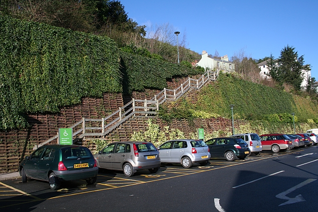 Steps up from Waitrose car park, Great Malvern