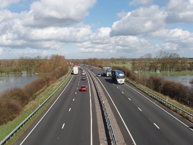 A34 from bridleway bridge