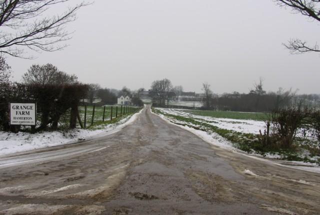 Driveway to Grange Farm