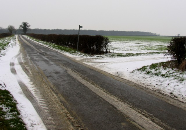 Road and field