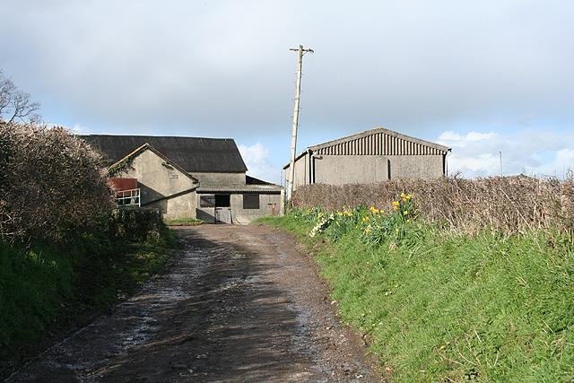 Ashill: track to Parsonage Farm