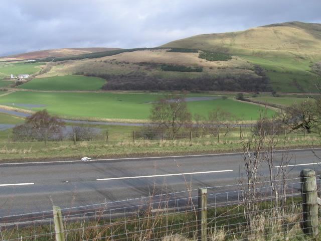 The A76 and River Nith near Waistland