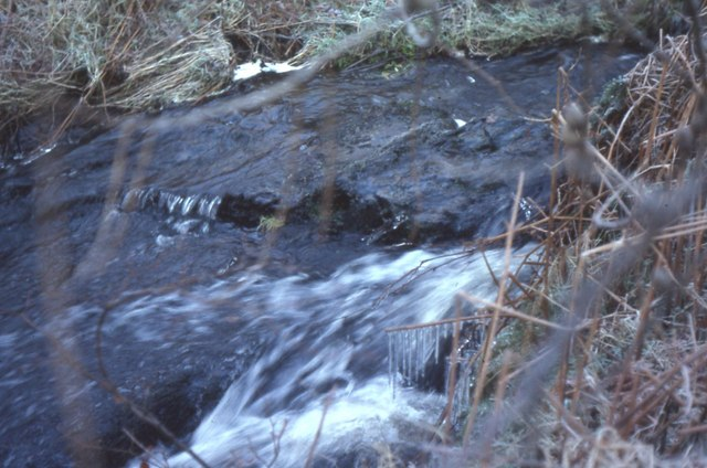 Icicles in the burn near Low Ballochdowan