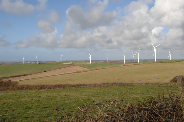 Wind Farm off the A30 at Carland Cross