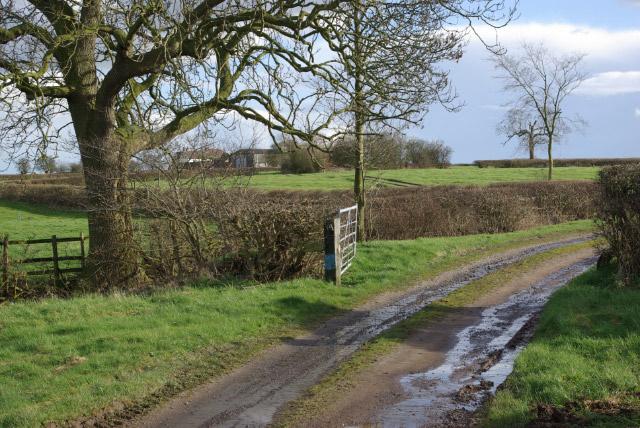 Track to Hill Farm, Sibson