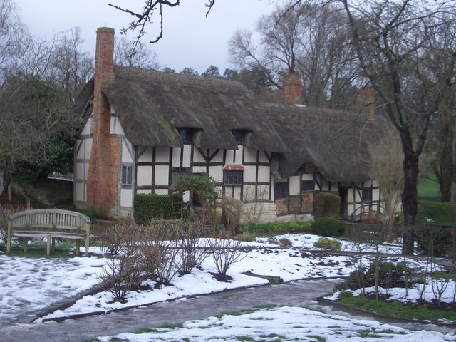 Anne Hathaway's Cottage In The Snow
