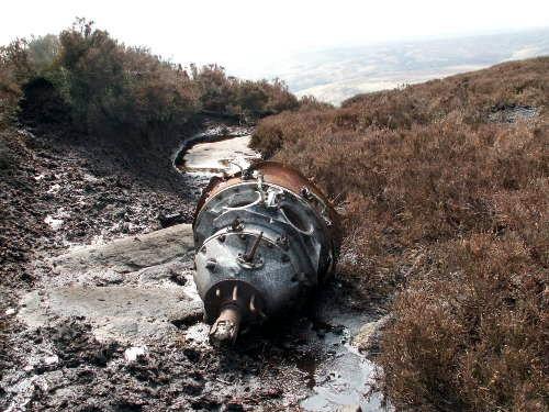 Consul TF-RPM Aircraft Engine Wreckage