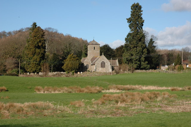 Mansel Lacy church viewed from the east