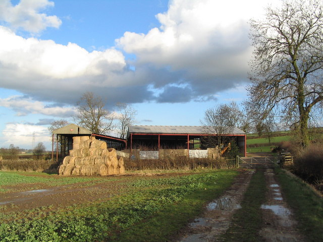 Barn with straw bales