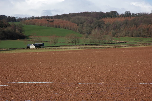 Farmland below Shukes Bank