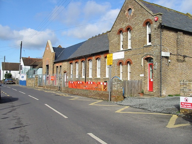The school at Monkton, undergoing some building work