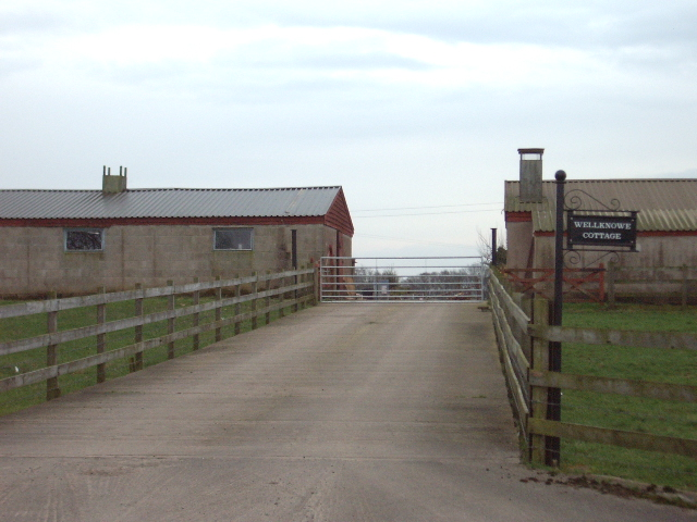 Entrance to Wellknowe Cottage and Sandysyke