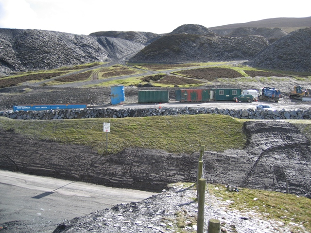 Moel y Faen Slate Quarry and Spoil Heaps