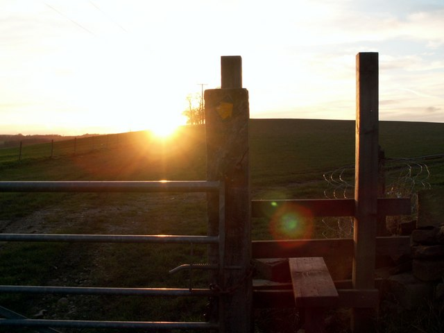 Stile at sunset