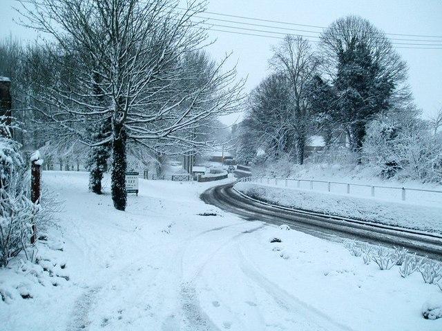 8 February 2007 Newbury Street East Hendred First proper snowfall for three years