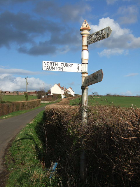 Signpost at Rock