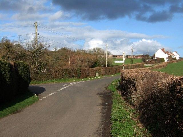 Lane junction at Rock