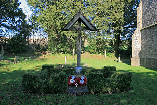 War Memorial at west end of church, Brown Candover