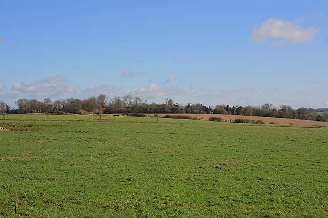 Looking across fielod towards Chilton Manor, Chilton Candover