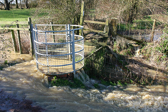 Flooded Stile and Gate