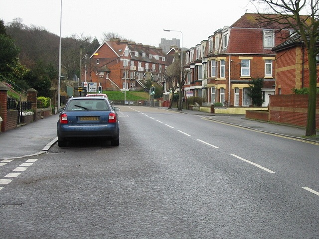 Looking SE along Barton Road