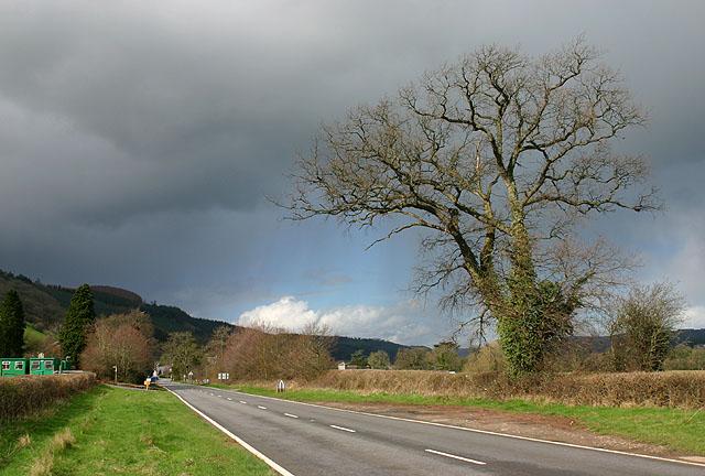 The A470 near Llyswen