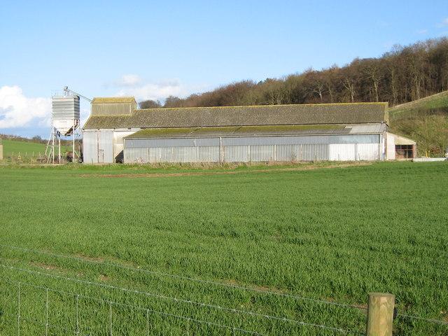 Grain storage barn