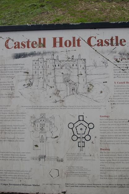 Sign at Holt Castle