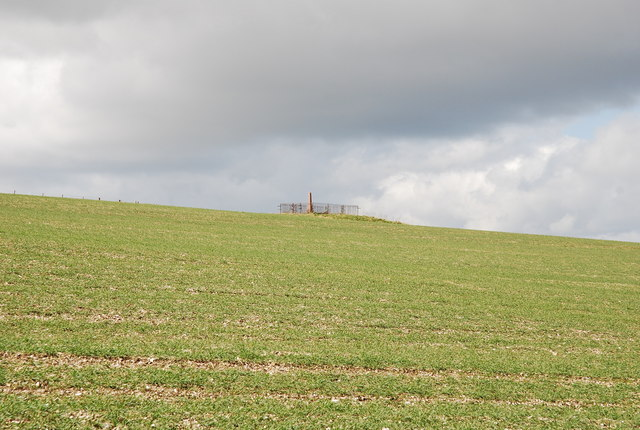 View of Memorial on Marleycombe Hill