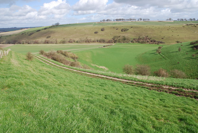 Lower ground between Marleycombe Hill and Knowle Hill