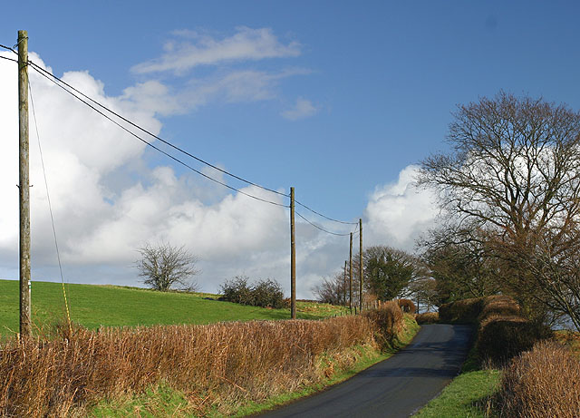 Road between Llanwrtyd Wells and Llangammarch Wells