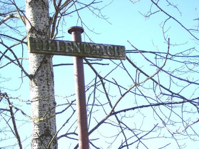 Signpost for Tillenteach
