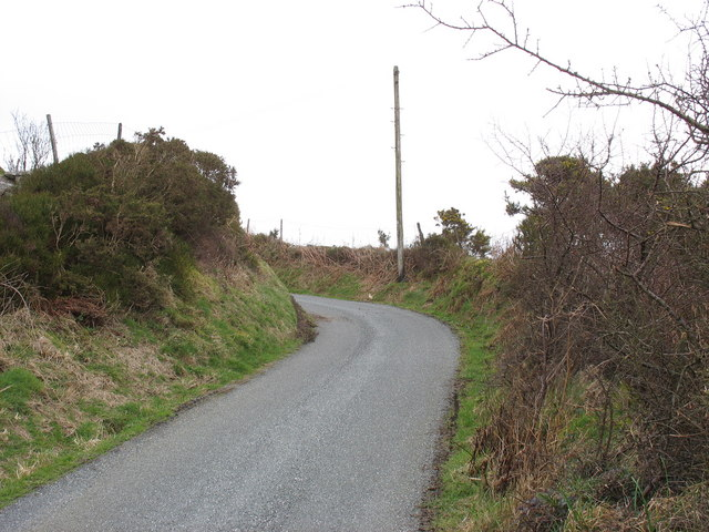 A characteristically sharp bend on the narrow Bwlch Mawr road